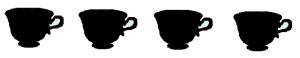 4 tazze