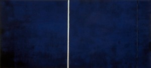 1951 Cathedra magna on canvas 243 x 543 cm 1961 Untitled lithograph © Barnett Newman Foundation - Artists Right Society (ARS), New York